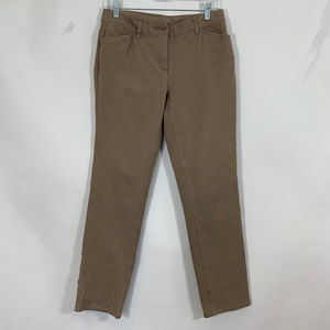 Chic's Slimming Khaki Brown Skinny Jeans Stretchy